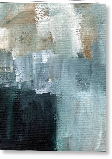 Sea Wall Greeting Cards - Days Like This - Abstract Painting Greeting Card by Linda Woods