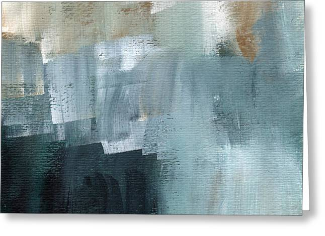 Days Like This - Abstract Painting Greeting Card by Linda Woods