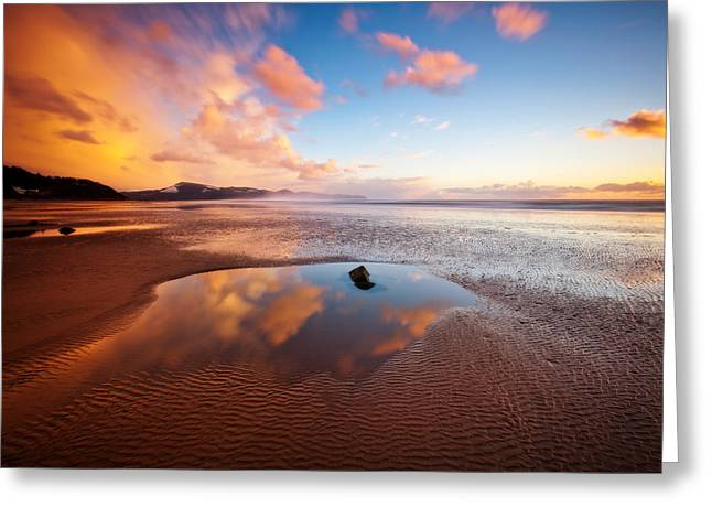 Ocean. Reflection Greeting Cards - Days of Future Passed Greeting Card by Darren  White