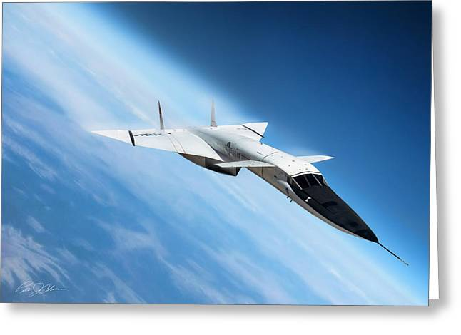 Nuclear Greeting Cards - Days Of Future Passed XB-70 Greeting Card by Peter Chilelli