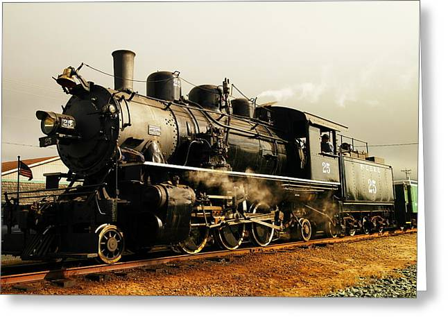 Days Of Steam And Steel Greeting Card by Jeff Swan