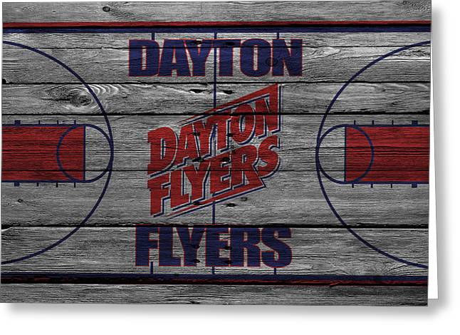 Dunk Photographs Greeting Cards - Dayton Flyers Greeting Card by Joe Hamilton