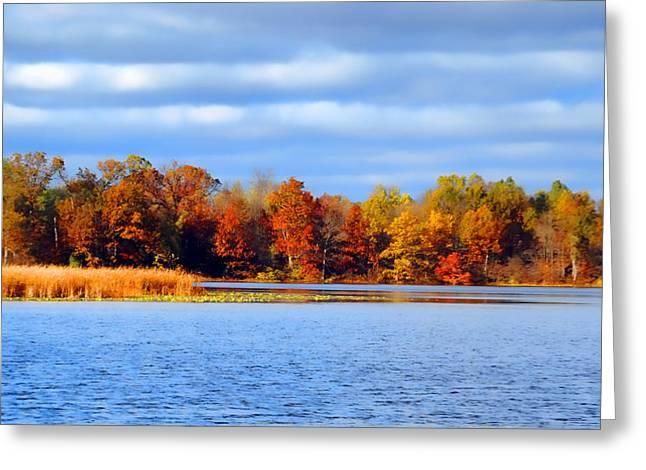 Lakes Pyrography Greeting Cards - Dayton Lake Greeting Card by Jeffrey Platt