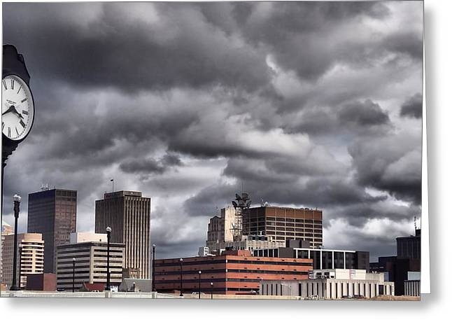 Cubicle Greeting Cards - Dayton Ohio Greeting Card by Dan Sproul