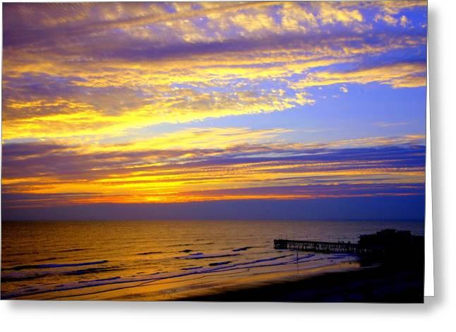 Daytona Greeting Cards - Daytona Beach Greeting Card by Karen Wiles