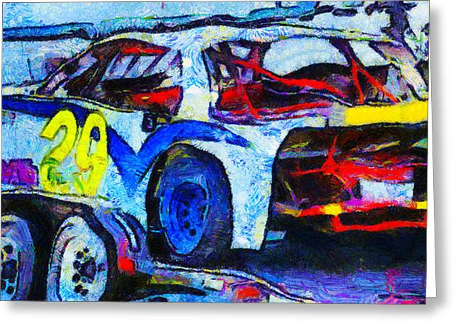 Racing Number Greeting Cards - Daytona Bound Number 29 Greeting Card by Barbara Snyder