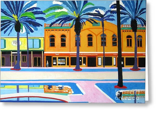 Main Street Greeting Cards - Daytona McKays Irish Pub Florida Greeting Card by Lesley Giles
