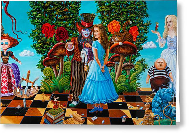 Mad Hatter Greeting Cards - Daze of Alice Greeting Card by Igor Postash