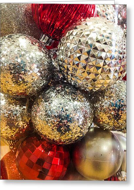 Christmas Eve Greeting Cards - Dazzling Christmas Greeting Card by Optical Playground By MP Ray