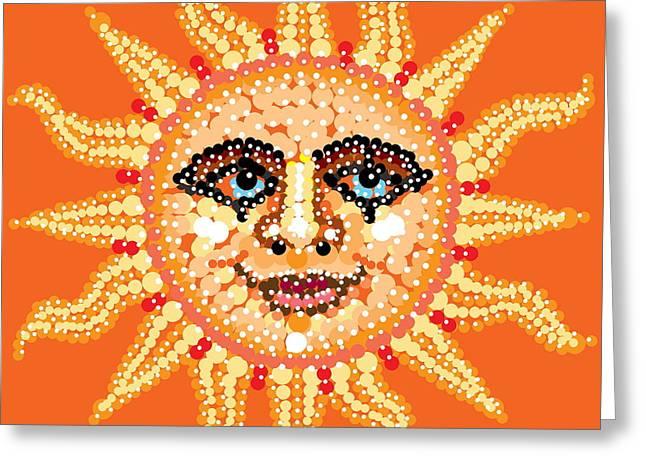 R Allen Swezey Greeting Cards - Dazzling Sun Greeting Card by R  Allen Swezey