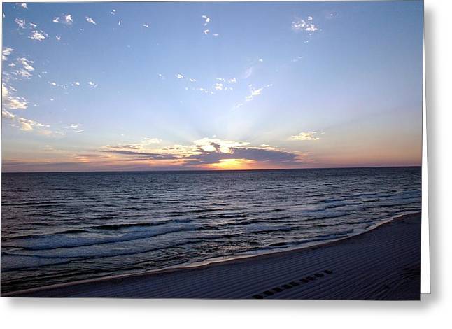 Panama City Beach Greeting Cards - Dazzling Sunset Greeting Card by Roe Rader
