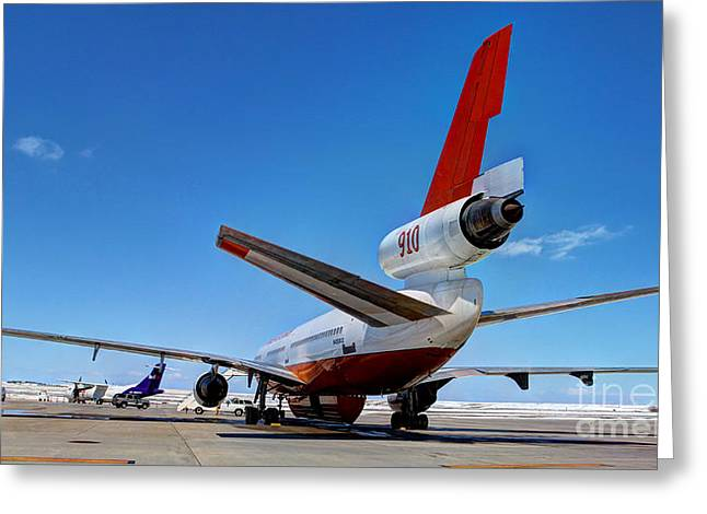 Greeting Card featuring the photograph Dc-10 Air Tanker  by Bill Gabbert