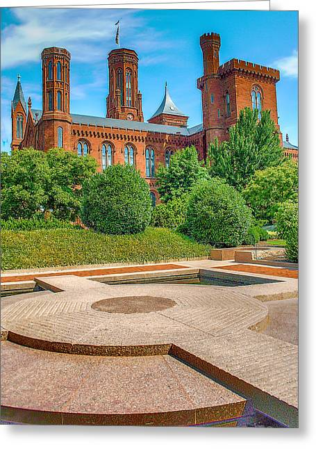 Smithsonian Greeting Cards - DC Castle Greeting Card by Dado Molina