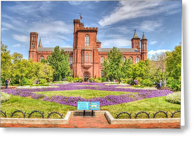 Smithsonian Greeting Cards - DC Castle Lawn Greeting Card by Dado Molina