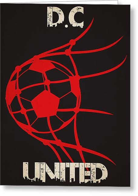 Ball Greeting Cards - Dc United Goal Greeting Card by Joe Hamilton