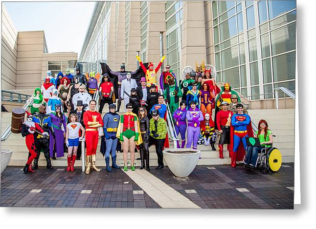 Cosplayers Photographs Greeting Cards - DC Universe C2E2 2013 Greeting Card by Andreas Schneider