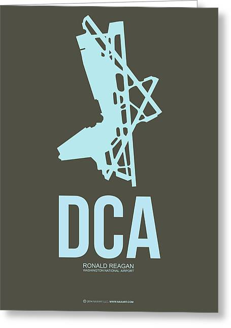 D Greeting Cards - DCA Washington Airport Poster 1 Greeting Card by Naxart Studio