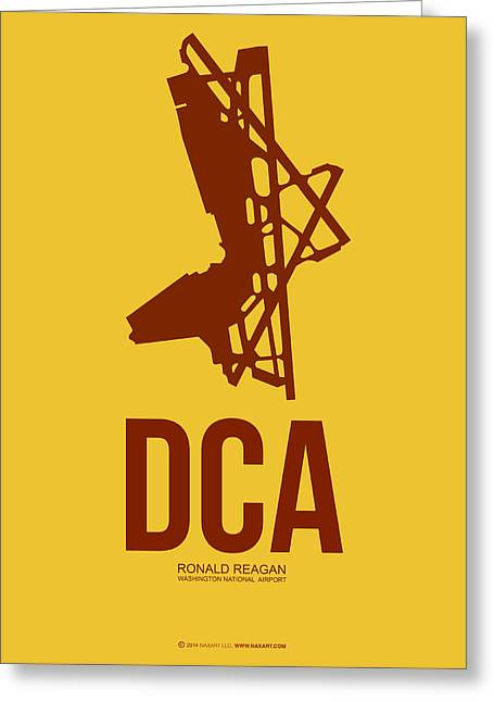 D Greeting Cards - DCA Washington Airport Poster 3 Greeting Card by Naxart Studio