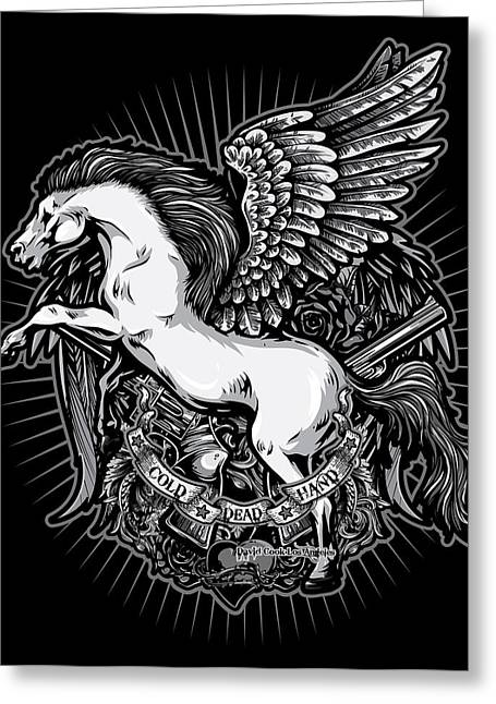 Dcla Cold Dead Hand Pegasus Greeting Card by David Cook Los Angeles