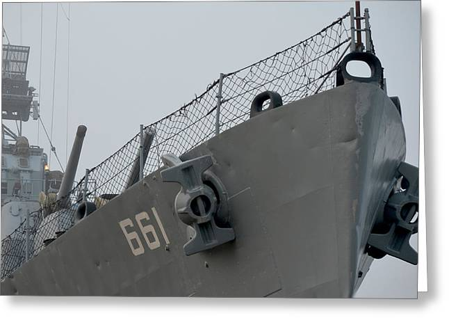 Dd-661 Nose With Anchors Greeting Card by Maggy Marsh