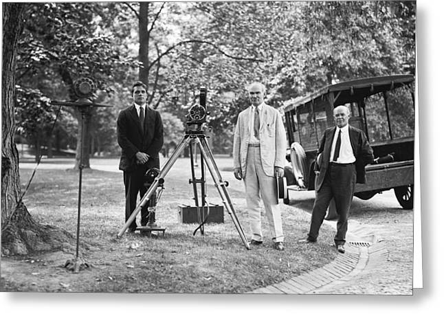 De Forest Pioneering Phonofilm, 1924 Greeting Card by Science Photo Library
