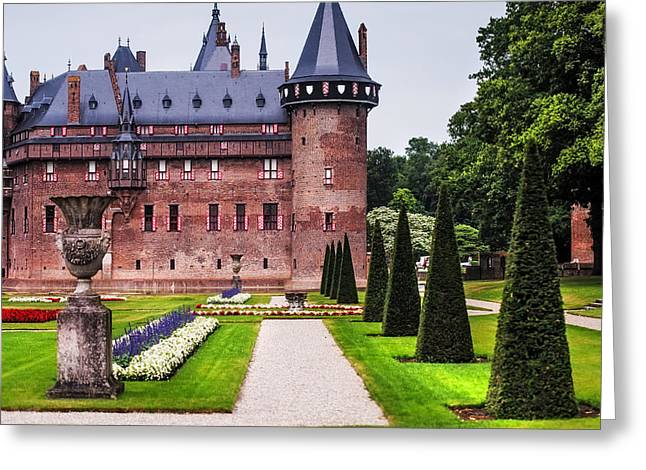 Peaceful Scene Greeting Cards - De Haar Castle 2. Utrecht. Netherlands Greeting Card by Jenny Rainbow