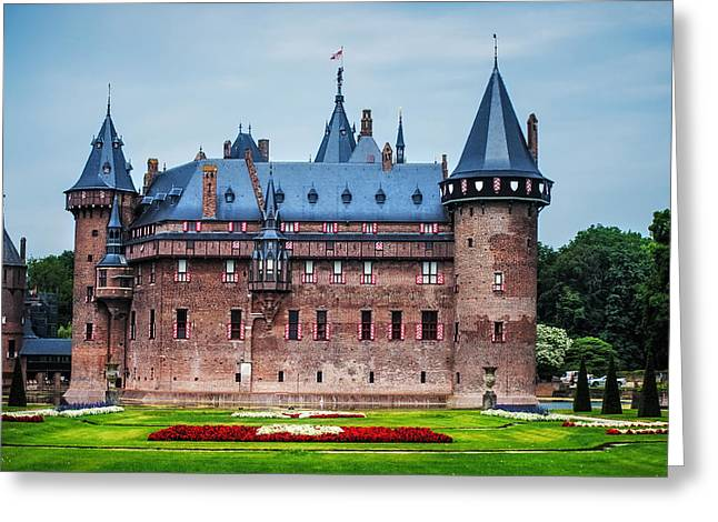 Peaceful Scene Greeting Cards - De Haar Castle. Utrecht. Netherlands Greeting Card by Jenny Rainbow
