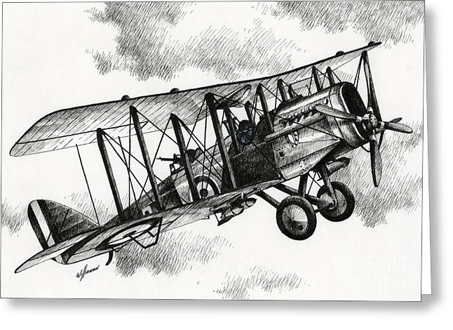 Airplane Art Framed Prints Greeting Cards - De Havilland Airco DH.4 Greeting Card by James Williamson