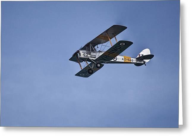 De Havilland Greeting Cards - De Havilland DH-82A Tiger Moth V2 Greeting Card by Douglas Barnard