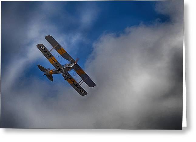 De Havilland Greeting Cards - De Havilland DH-82A Tiger Moth V3 Greeting Card by Douglas Barnard