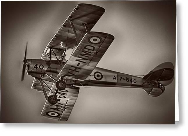 De Havilland Greeting Cards - De Havilland DH-82A Tiger Moth V5 Greeting Card by Douglas Barnard