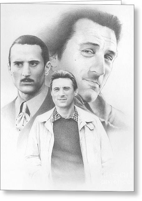 Montage Drawings Greeting Cards - De Niro Greeting Card by TPD Art