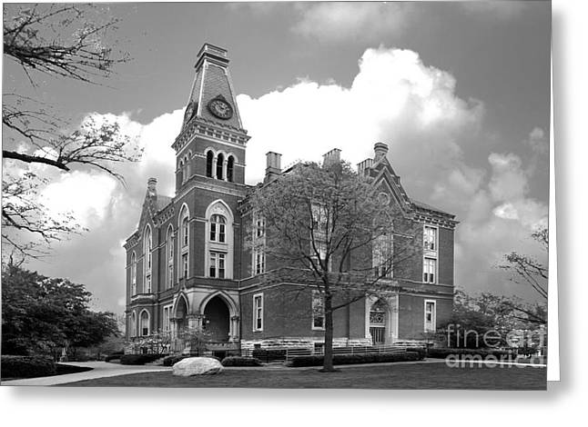 Rural Indiana Greeting Cards - De Pauw University East College Greeting Card by University Icons