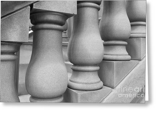 Small Towns Greeting Cards - De Pauw University Stone Balustrade Greeting Card by University Icons