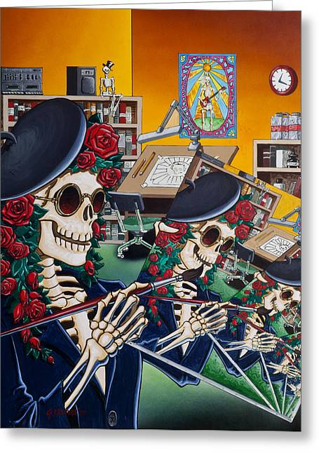 Dead Artist Society Greeting Card by Gary Kroman