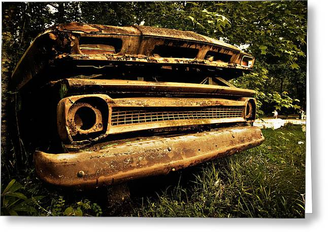Chevy Greeting Cards - Dead Chevy Greeting Card by Andy Crawford