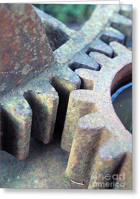 Mechanism Photographs Greeting Cards - Dead Cogwheels Greeting Card by Ladi  Kirn