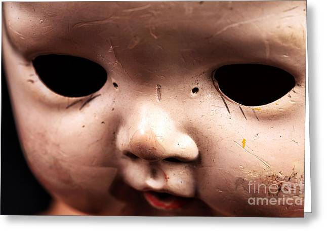 Empty Eyes Greeting Cards - Dead Eyes Greeting Card by John Rizzuto