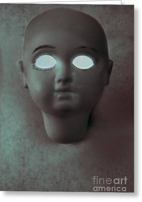 Glowing Eyes Greeting Cards - Dead Eyes Greeting Card by Margie Hurwich