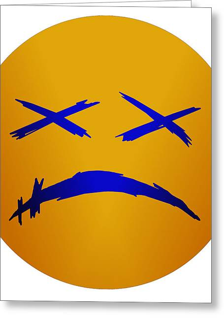 Abstract Digital Drawings Greeting Cards - dEAd FacE Greeting Card by Jay Morgan