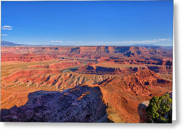 Dead Horse Point Greeting Cards - Dead Horse Point Afternoon Panorama Greeting Card by Greg Norrell