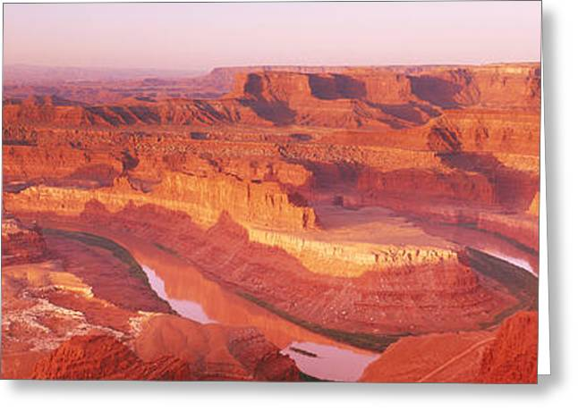 Horses In Nature Greeting Cards - Dead Horse Point At Sunrise In Dead Greeting Card by Panoramic Images