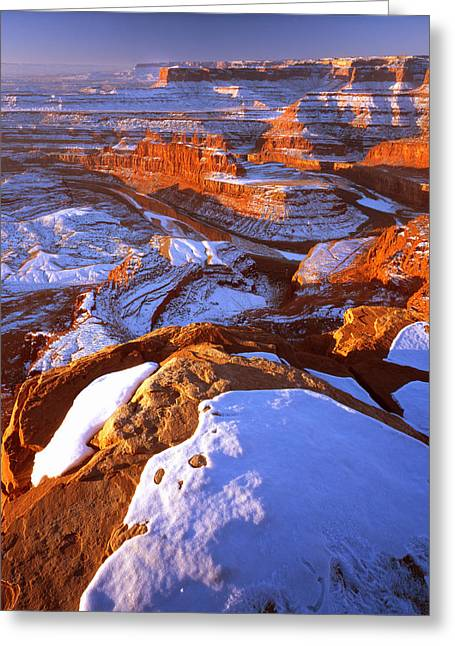 Goosenecks State Park Greeting Cards - Dead Horse Point in Winter Greeting Card by Ray Mathis