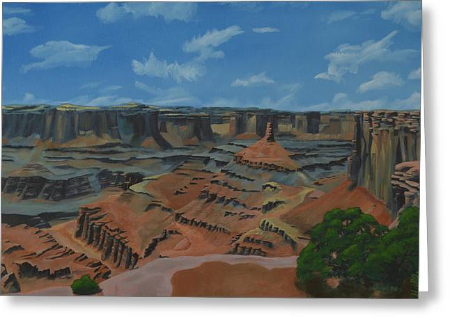 Pinion Paintings Greeting Cards - Dead Horse Point Greeting Card by Nick Froyd