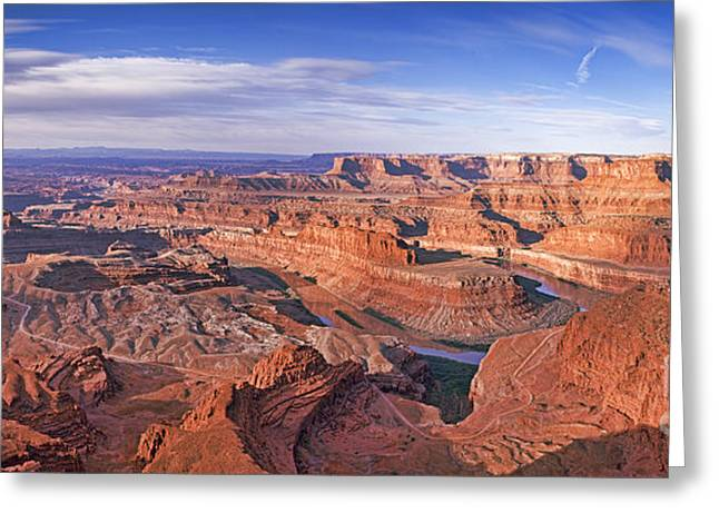 Dead Horse Point Greeting Cards - Dead Horse Point Panorama Greeting Card by Colin and Linda McKie