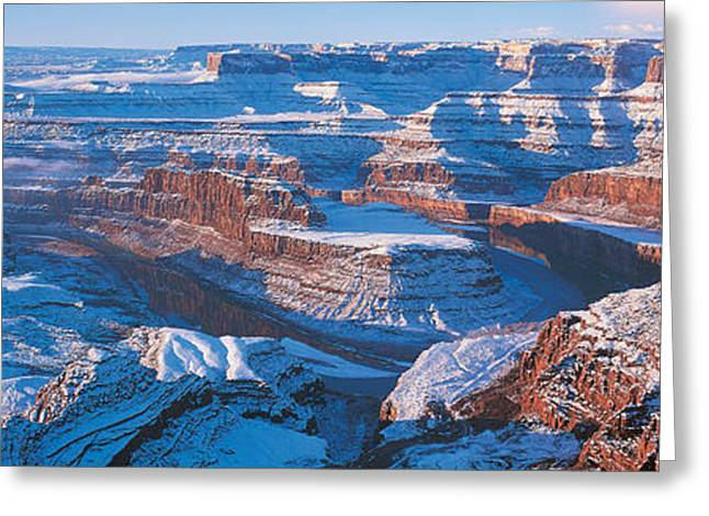 Reflections In River Greeting Cards - Dead Horse Point State Park W\ Greeting Card by Panoramic Images