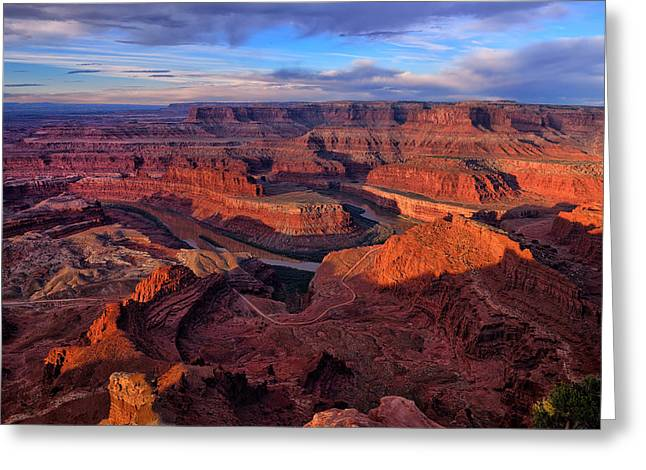 Dead Horse Point Greeting Cards - Dead Horse Point Sunrise Greeting Card by Greg Norrell