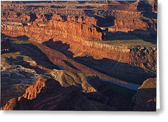 Southern Utah Greeting Cards - Dead Horse Point Sunrise Panorama Greeting Card by Mark Kiver