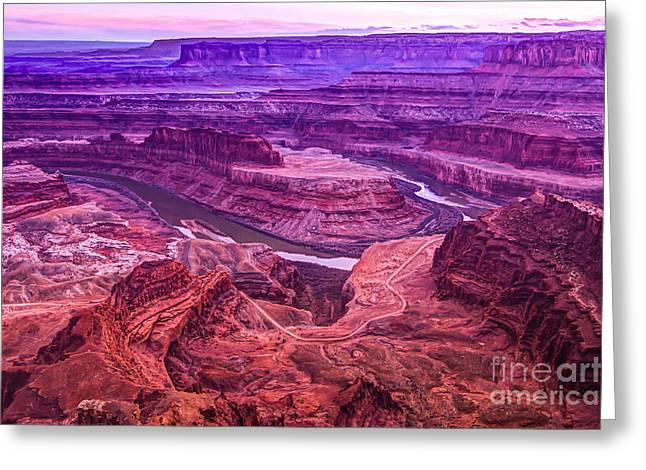 Dead Horse Point Greeting Cards - Dead Horse Point Sunset Digital Painting Greeting Card by Gary Whitton