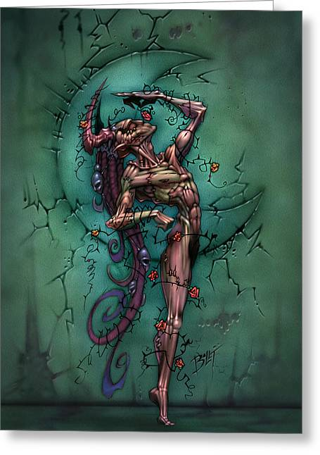Undead Greeting Cards - Dead Man Greeting Card by David Bollt